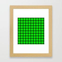 Neon Green Weave Framed Art Print