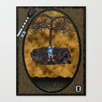 book cover Canvas Prints featuring Book Cover Illustration by Conceptualized