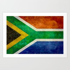 National flag of the Republic of South Africa Art Print