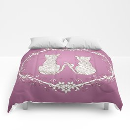 lovely cats Comforters