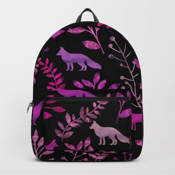 Watercolor Floral & Fox II Backpack