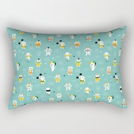 Cat circus performers Rectangular Pillow