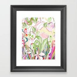 musical flora Framed Art Print