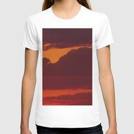 Orange sunset sky (dark) T-shirt