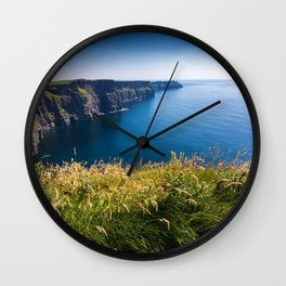 Sunny Cliffs of Moher, Ireland Wall Clock