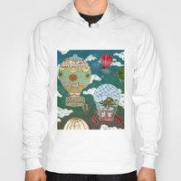 hot air balloons Hoodies featuring Hot Air Balloons I by minouette