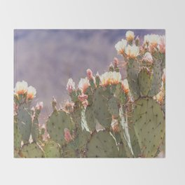 Prickly Pear Blooms I Throw Blanket
