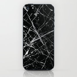 Silver Splatter 090 iPhone Skin