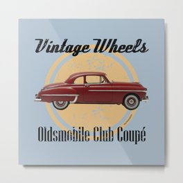 Vintage Wheels: Oldsmobile Club Coupé Metal Print