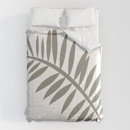 PALM LEAF VINE LEAF GRAY AND WHITE Comforters