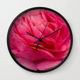 Vivid pink flower Wall Clock