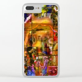 Too Much Muzik? Clear iPhone Case