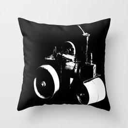 Model Steam-roller Throw Pillow