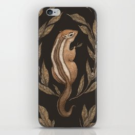 The Chipmunk and Bay Laurel iPhone Skin