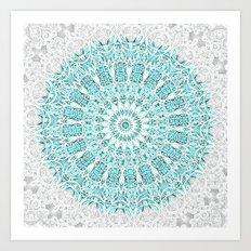 A Glittering Mandala  Art Print