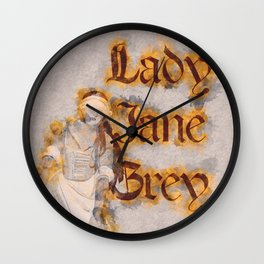 Lady Jane Grey artwork Wall Clock