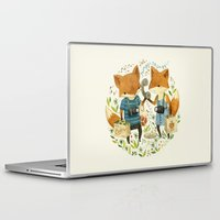 inspirational Laptop & iPad Skins featuring Fox Friends by Teagan White