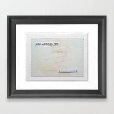 jack, unfortunately overexposed Framed Art Print