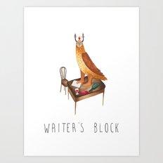 Writer's block Art Print