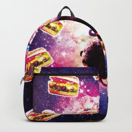 Thug Space Cat On Ostrich Unicorn - Burger Backpack