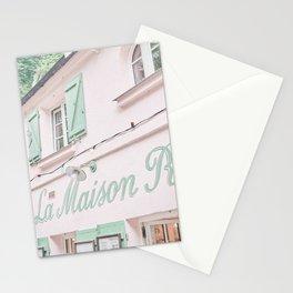 Pink Restaurant La Maison Rose in Paris, France Stationery Cards