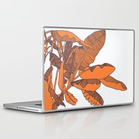 banana leaf Laptop & iPad Skins featuring Banana Leaf Print by Home by Bear