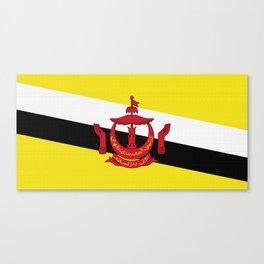 Brunei Flag (Canvas Look) Canvas Print