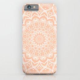 Elegant Peach Mandala iPhone Case
