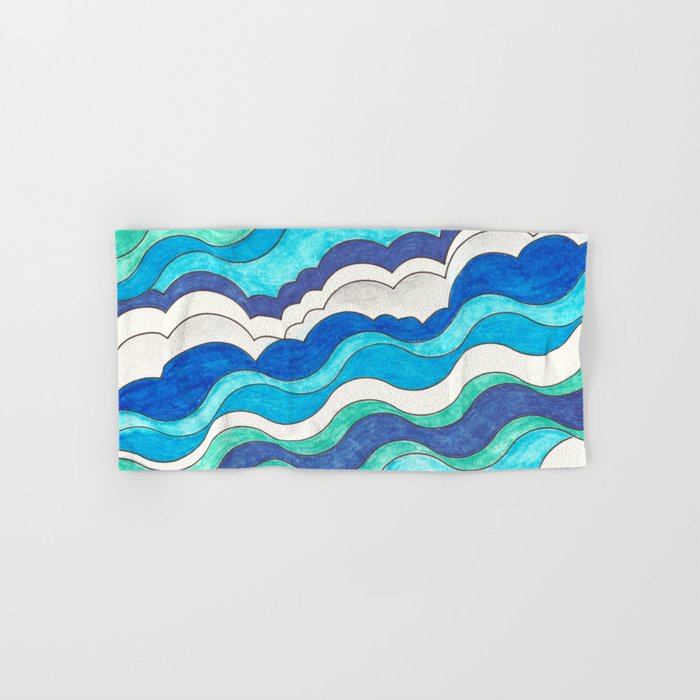Make Waves II Hand & Bath Towel