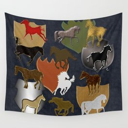 Horsing Around with Heraldry Wall Tapestry