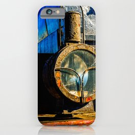 Ancient Steam Locomotive Headlight Made Of Oil Lamp iPhone Case