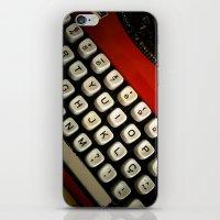 typewriter iPhone & iPod Skins featuring Typewriter by Mauricio Santana