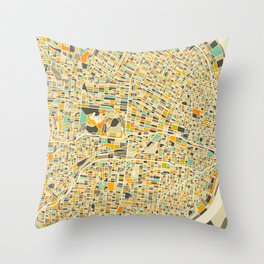 St Louis Map Throw Pillow