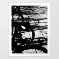 bikes Art Prints featuring bikes by meme grant