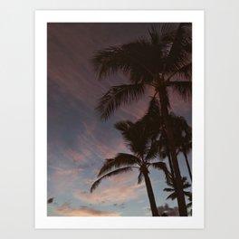 Palm Trees & Sunset Art Print