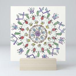Garden Friends Mandala Mini Art Print