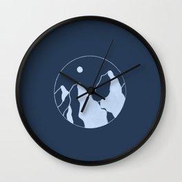 deep shadow mountains Wall Clock