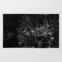seoul Area & Throw Rugs featuring Seoul by Line Line Lines