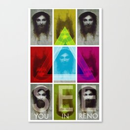See You In Reno - Jesus Tri Canvas Print