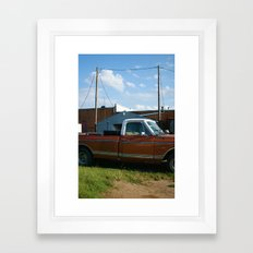truck in west, tx Framed Art Print