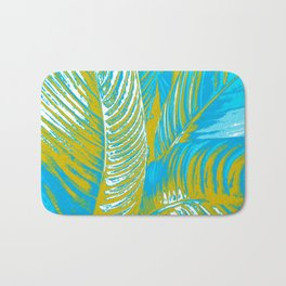 Colorful Leaves Lovely Turquoise #society6 #decor Bath Mat