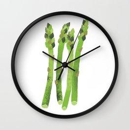 Asparagus Illustration Wall Clock