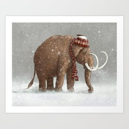 The Ice Age Sucked Art Print