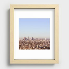 Downtown Los Angeles Skyline - Los Angeles Iconic Recessed Framed Print