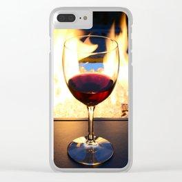 Fireside Wine II Clear iPhone Case