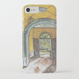 Vincent van Gogh - Lobby of the hospital of Saint-Paul iPhone Case