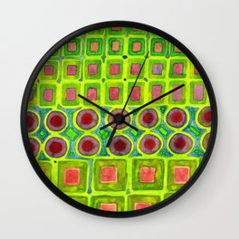 Connected filled Squares Fields Wall Clock