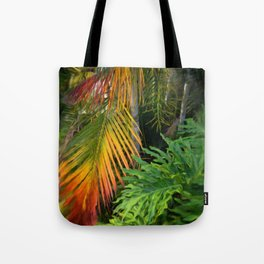 Palm Glow Tote Bag