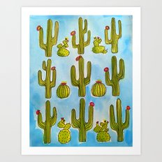 Cactus Life Illustration Art Print