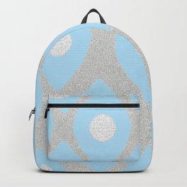 Eye Pattern Blue Backpack